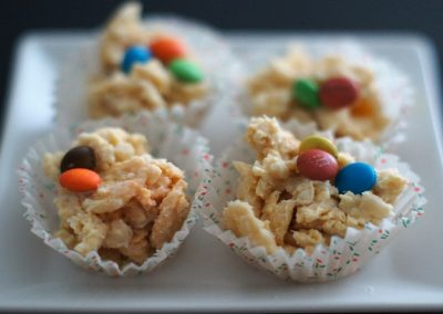 White Nutty Cornflake Cups